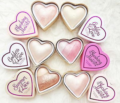 Revolution I ♡ MakeUp Blushing Hearts highlighter baked blush bronzer