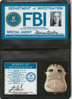 X-Files Badge d'identification Dana Scully saison 10 New scully id card replica