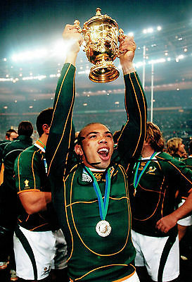 Bryan HABANA South Africa Rugby World Cup Win Signed Autograph Photo AFTAL COA