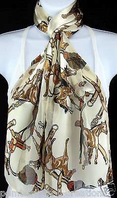 Quarter Horse Womens Scarf Western Equestrian Saddle Scarfs Gift Scarves New