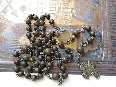 Early 1900's Scarce Antique Genuine Horn Beads Rosary-'Holy Spirit' Crucifix