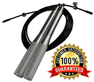 UK Warrior 2000 Adjustable Metal Speed Skipping Rope Cross Boxing MMA Exercise