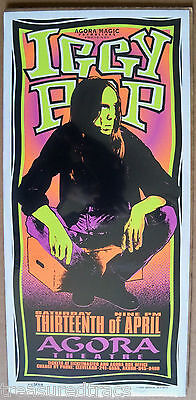 1996/1997 Arminski Iggy Pop Iguanas 2 Handbills Pop Culture Art Orange Iguanas