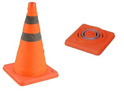"18""Portable Pop Up Safety Traffic Cone Collapsible Driving Road Safety Essential"