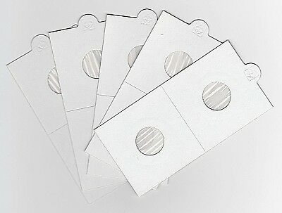 """LIGHTHOUSE 17.5mm SELF ADHESIVE 2""""x 2"""" COIN HOLDERS x 5 - SUIT THREEPENCE/1CENT"""