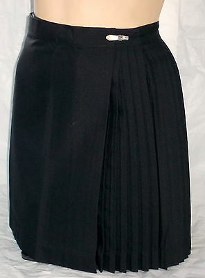 Pleated Skirts Black Polyviscose in Ladies Size 4 - 8 - 12 and 16 Netball Sport