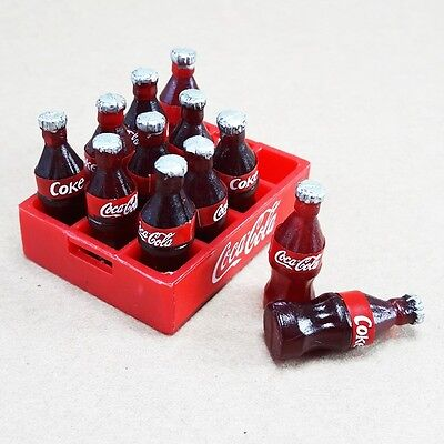 Soft Drink Cases Coke Miniature Dollhouse Plastic Supply Collectibles 1 Set