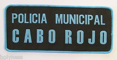Very Large Vintage Puerto Rico Police Patch // Policia Municipal Cabo Rojo
