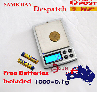 1000g 0.01g DIGITAL POCKET SCALES JEWELLERY PRECISION ELECTRONIC WEIGHT LAB