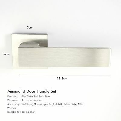 3 sets x SOLID Stainless Steel door handle (BOLD Series)