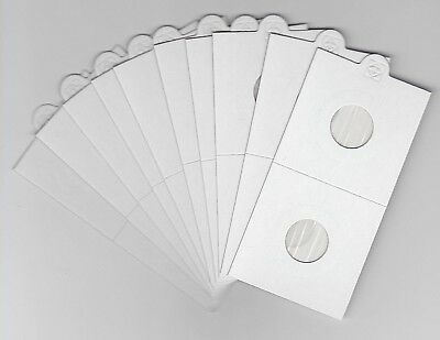 """LIGHTHOUSE 17.5mm SELF ADHESIVE 2""""x 2"""" COIN HOLDERS x 10 - SUIT T'PENCE/1 CENT"""