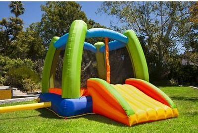 Playhouse Bounce House Slide Jump Bouncer Inflatable with Blower Kids Jumper New