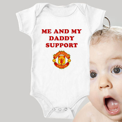 Man Utd - Manchester United Custom Football Bodysuit Baby Vest Gift Funny #17