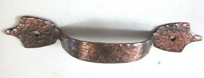 "1 vintage colonial hammered copper duck feet drawer lift pull handle 3-5/8""C-C"