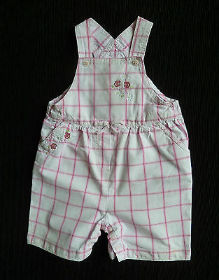 Baby clothes GIRL 12-18m NEXT pink/white check dungarees 2nd item post-free!
