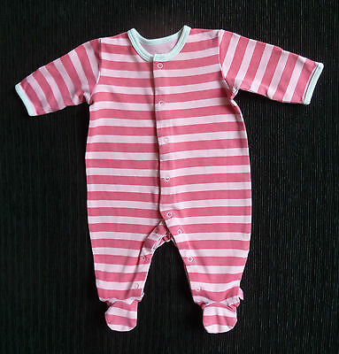 Baby clothes GIRL 0-3m Mamas&Papas pink stripe babygrow COMBINE POST SEE SHOP!
