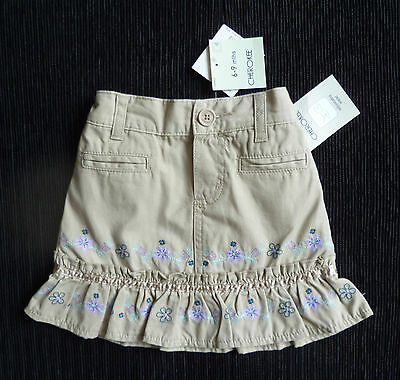 Baby clothes GIRL 6-9m NEW embroider coffee-colour skirt cotton COMBINE POSTAGE!