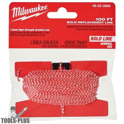 Milwaukee 100' Bold Replacement Chalk Line 48-22-3989 New