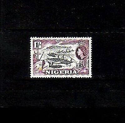 Nigeria - 1953 - Qe Ii - Timber - Logging - # 87 - Mint - Mnh  Single!