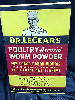 Dr LEGEARS Poultry Ascaird Worm Powder Chickens/Turkeys