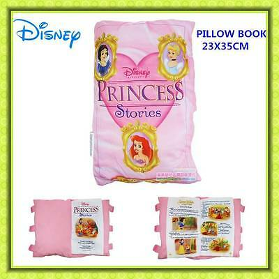 Disney Princess Pillow Story Book Kids Girls Plush Bedtime Story 23X35 XMAS GIFT
