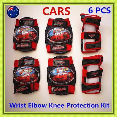 CARS Boys Skates Scooter Roller Bike KNEE ELBOW WRIST Protective Gear Pad GIFT
