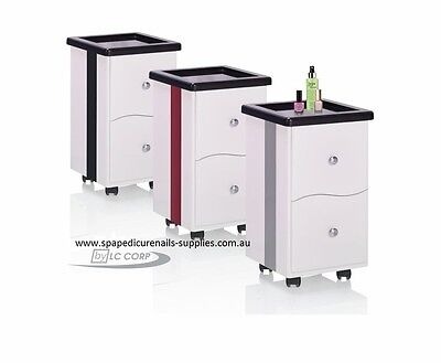 Modern Designer Pedicure Trolley Silver Trim