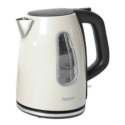 Igenix IG730C 1.7 Litre 3KW Cordless Jug Kettle Metallic Cream