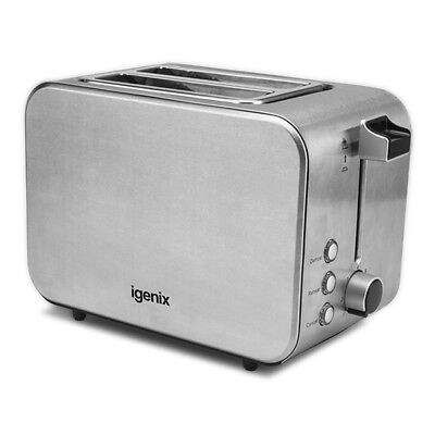 Igenix IG3202 2 Slice Brushed & Polished Stainless Steel Toaster