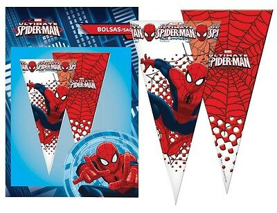 Spiderman Large Sweet Cello Cone Loot Bags Birthday Party Length 40cms