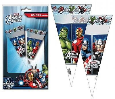 Marvel Avengers Large Sweet Cello Cone Loot Bags Birthday Party Length 40cms