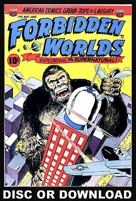 ☆ FORBIDDEN WORLDS & THE BEYOND ☆ 175x Golden Age Comics Scanned to DVD-Rom Disc