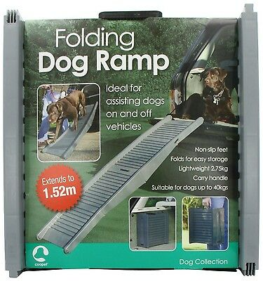 Folding Dog Travel Ramp Car Vehicle Mobilty Easy Access Scared Nervous BRAND NEW