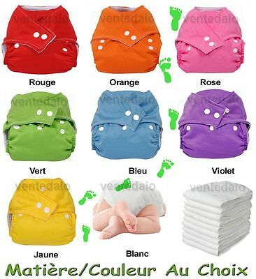 Lot Layers Washable + Inserts Te1 Adjustable Microfiber/Bamboo choose Your Color