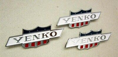 Camaro Nova Chevelle Chrome Yenko Emblems Rare Set Of 3 838586