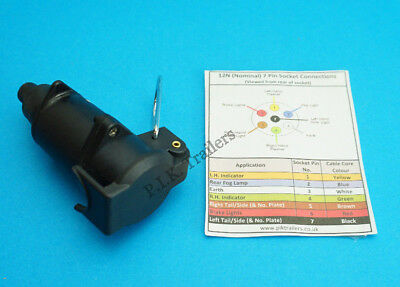 7 Pin Flying Socket 12N for Extension Leads Trailer, Horse Box & Caravan