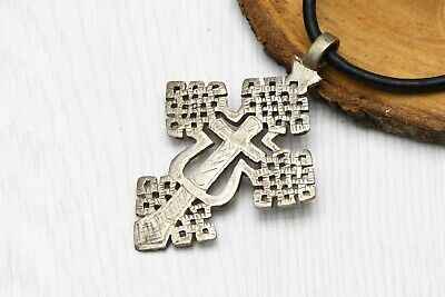 Cross silver Pendant Ethiopian Ancient Byzantine Style