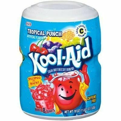 Kool-Aid Tropical Punch Soft Drink Mix 538g (Pack of 2)