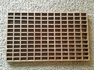 "Antique Victoria Edwardian Large 24"" x 14.5"" Wooden Register Grate Cover (Lot 1)"