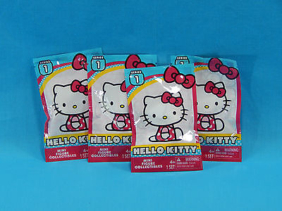 4x Hello Kitty Series 1 Blind Bag Mystery Figures Sealed