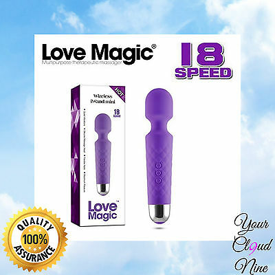 Wireless iWand Mini Personal Body Massager Love Magic Wand 18 Speed