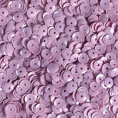 Sequins Transparent Pink Iris 8mm Round Cup ~400 pieces or ~4,750 pcs Loose HQ