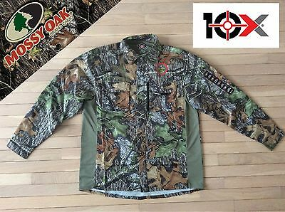 Large Mossy Oak Long Sleeve Camo Lite Turkey Hunting Fishing Outdoorsman Shirt