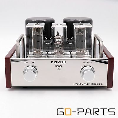 Hifi Single End Class A 12AX7 EL84 Tube Amplifier 3.6W Stainless Steel Chassisx1