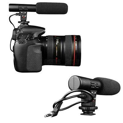 New Pro Studio Digital Video Stereo Recording 3.5mm Wired Microphones For Camera