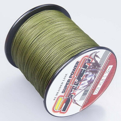 100M-2000M Army Green 12-150LB Dyneema100%PE Spectra Braid Fishing Line XW
