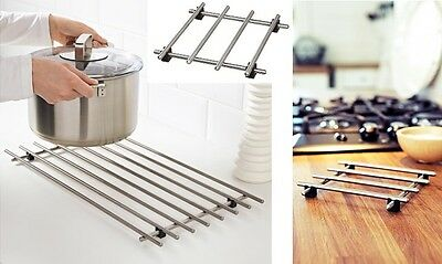 New Ikea Lamplig Stainless Steel Kitchen Trivet Worktop Saver Pot Pan Stand Rack