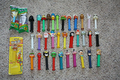 Vintage 1990's Lot 40 Pez Candy Dispensers STAR WARS, HOLIDAY, SUPERHEROES