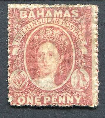 Bahamas 1861-62 rough perf 14-16 1d lake SG4 MM cat £650