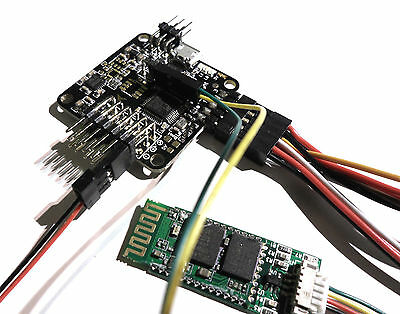 Naze32 Flight Controller low profile soldered right angle pins with Bluetooth